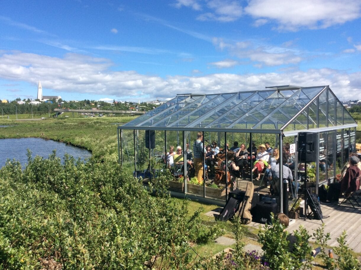 Picnic Concert in The Nordic House greenhouse.