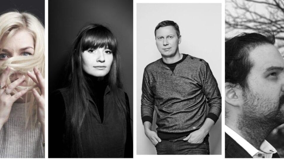 Ásta Fanney Sigurðardóttir, Fríða Ísberg, Haukur Ingvarsson og Jón Örn Loðmfjörð